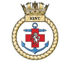 HMS Kent badge